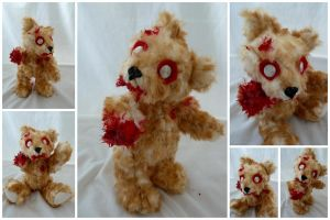 Zombie Teddy Bear by IckyDog