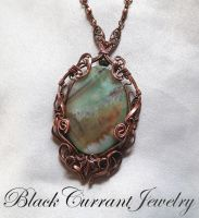 Agate Pendant L'Automne by blackcurrantjewelry