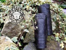 Celtic Deer Bracers by Khalmora-Creations