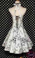 Nightmare Before Christmas Jack Heads Dress (back) by TheVintageDoctor