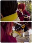 kenshin vs aoshi cosplay 2 by eve1789