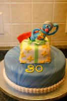super grover cake by pinkshoegirl