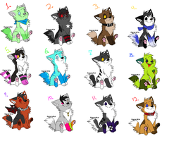 Wolf Point Adoptables. 3 by Arkay9