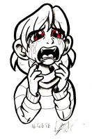 Undertale [SPOILERS]: Crying Chara by NeroStreet