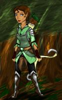 Rider in the Woods by MousieDoodles