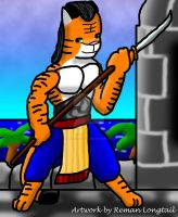Tiger with Naginata by remanlongtail