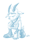 Sketch Commission - Grant the Goat by BlazeTBW