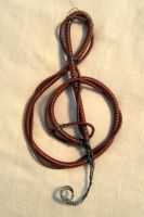 Piano Wire Treble Clef by Madelei