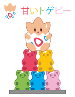 Togepi Gummi Tower ::GIFT:: by Itachi-Roxas