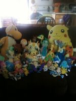 My Pokemon Plush Collection by Koji45