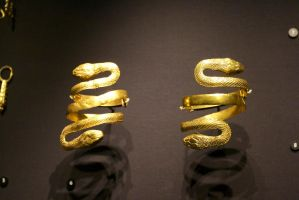 Gold snake Arm bands by Loves2dive