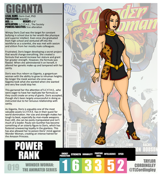 Wonder Woman TAS - Giganta Redesign Profile by Femmes-Fatales