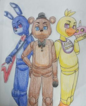 The Original Fazbear Band by SazukaXDeidara4Ever
