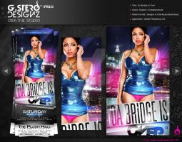 Da Bridge Is Over Party Flyer by Gallistero