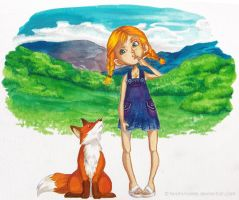 The fox and the child by Lowenael