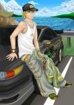 TB, Lean Back Against His Car by 1soraokami