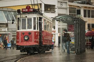 Taksim Train Snow by CaGaTaYGENCAY