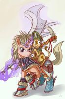 Kirin armor set ponyfication by lexx2dot0