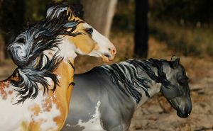 Face shot mustangs by FriesianFury
