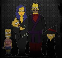 Adams Family in Simpsons by Matsuri1128