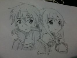 Kirito And Asuna #WithSignature by Admin-GeneXis