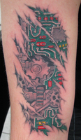 biomechanical on arm by Drewgovan