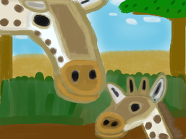 Art Trade: Giraffes On The Serengeti by MyMelodyOfTheHeart