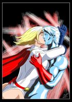 Powergirl and Captain Atom - Kiss by adamantis