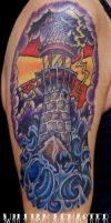 Lighthouse - Upper Arm - Tattoo by SmilinPirateTattoo