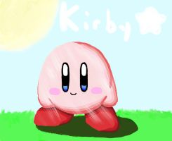 Light and 3d textures: kirby by The-Super-Brawl-Girl