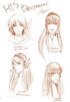 CR Sketch : Just Headshots 1 by AOBAN