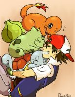 Pokemon starters by PamziPam
