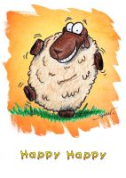 Sheep Birthday Card Design II by bnspencer