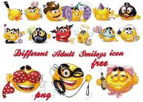 Emoticons Different Adult Smileys by AEONFLAX