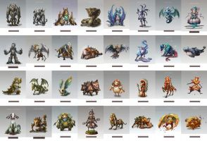 Fengshui monster collection by dothaithanh
