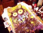 dark owl on t-shirt by bemain