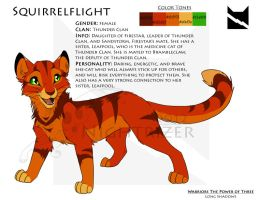 Squirrelflight Character Sheet by Nightrizer