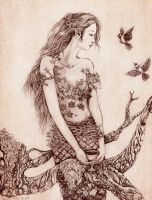 Pinecone Dryad by GingerKellyStudio