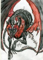 Collin The Hells Dragon by AcidKreature