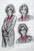 OUAT Sketches - Mr. Gold by Cruzerchic123