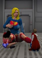 Superiorgirl Too big to kiss her foot? by mithrawnurudo