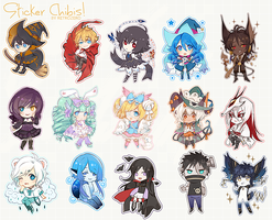 a bunch of chibis by retrozero