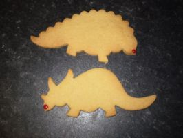Red Nosed Dinos by purplepineapple77