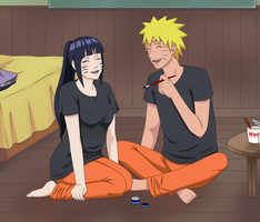NaruHina moment by RamonaChan