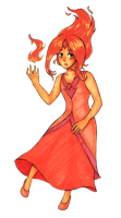 animu Flame Princess by Iyasha