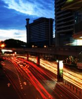 light trails in KL by makibao