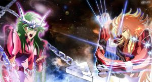 SAINT SEIYA - Shun vs Mime - FINAL by Iso-pI