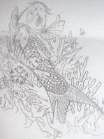 koi line picture for tattoo by drewcarcrazy