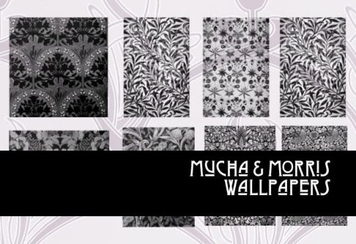 Mucha and Morris Wallpapers by remittancegirl