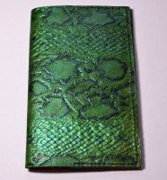 Emerald Green Snakeskin Leather Journal Cover by CoreyChiev